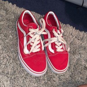 Red Old School Vans